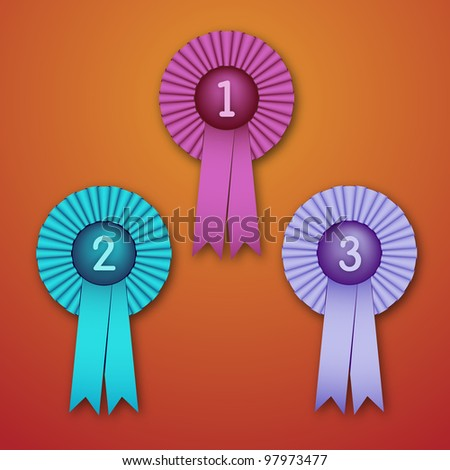Vector Illustration of Award Ribbons (eps v.10) - stock vector