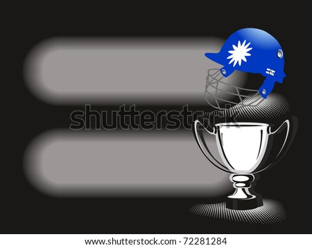 vector illustration of banner with cricket element - stock vector