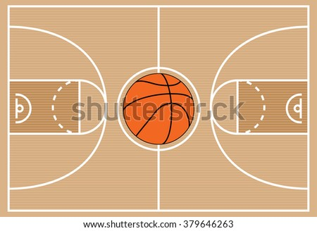 vector illustration of basketball court symbol - stock vector