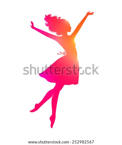 Vector illustration of Beautiful and young woman - stock vector