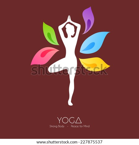 Vector illustration of Beautiful woman doing yoga - stock vector