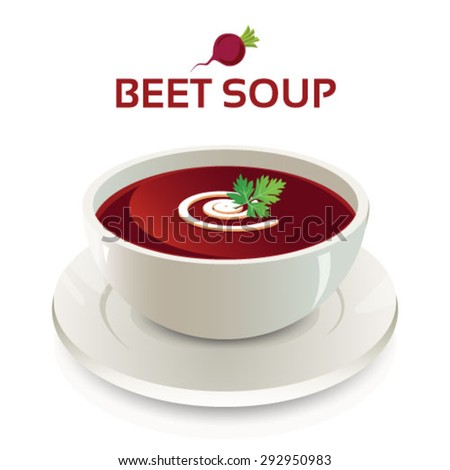 Beetroot Soup Beetroot Soup in a White