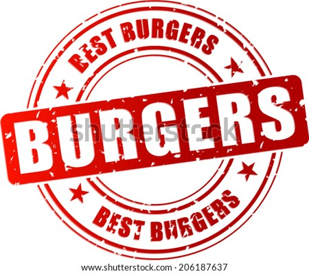 Vector illustration of best burgers stamp icon - stock vector