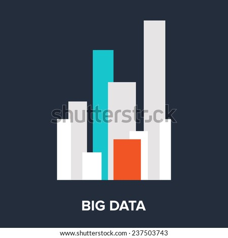 Vector illustration of big data flat design concept. - stock vector