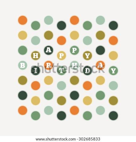 Vector illustration of birthday dots pattern design element. - stock vector