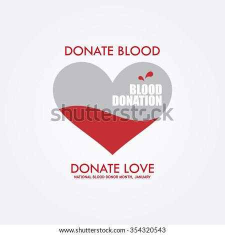 Vector Illustration of Blood Donation. Save Life and Be a Hero - stock vector