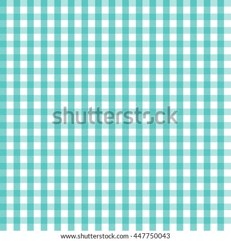 vector illustration of blue checkered tablecloth. EPS - stock vector