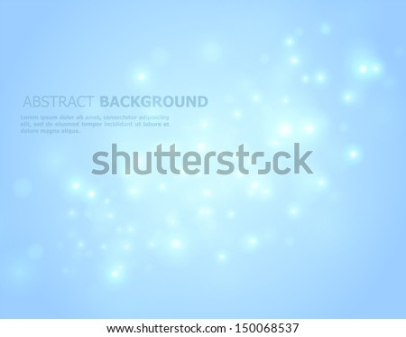 Vector illustration of Blue glowing abstract - stock vector