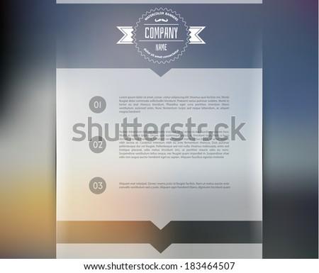 Vector illustration of Blurred web design template - stock vector