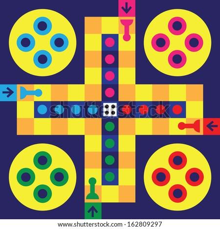 Vector illustration of board game for children  - stock vector