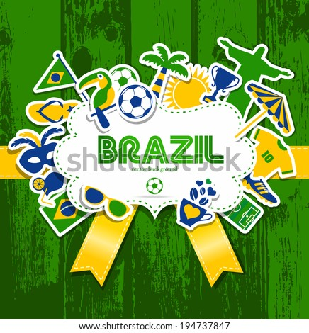 Vector Illustration of Brazil - stock vector