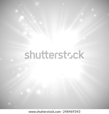 vector illustration of bright flash, explosion or burst on the white background - stock vector