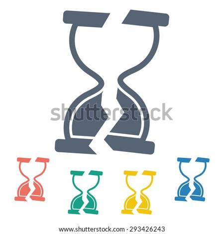 vector illustration of business and finance icon time is money broken - stock vector