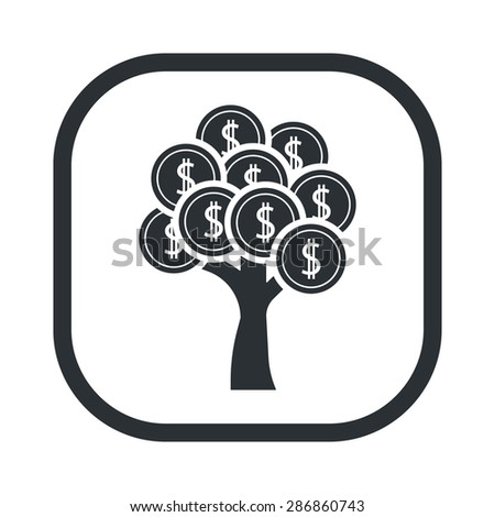 vector illustration of business and finance icon tree coin - stock vector