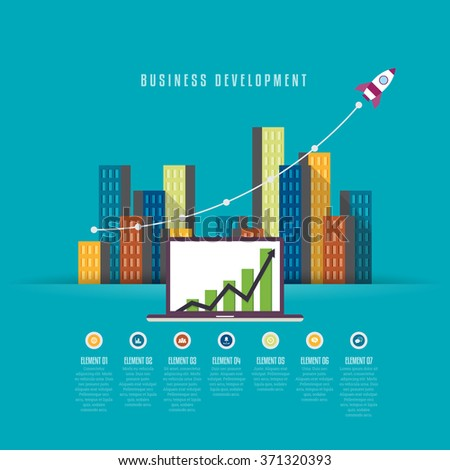 Vector illustration of business development infographic design element. - stock vector