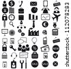 Vector illustration of business icons - stock vector