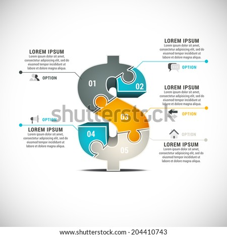 Vector illustration of business infographic. - stock vector