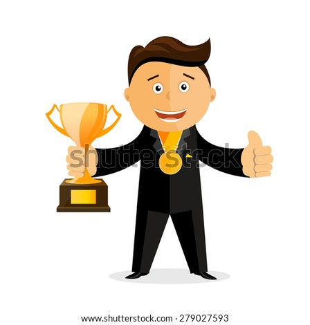 Vector illustration of businessman - stock vector