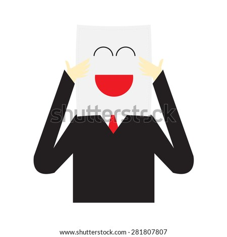 Vector illustration of Businessman Cartoon Character on white background - stock vector