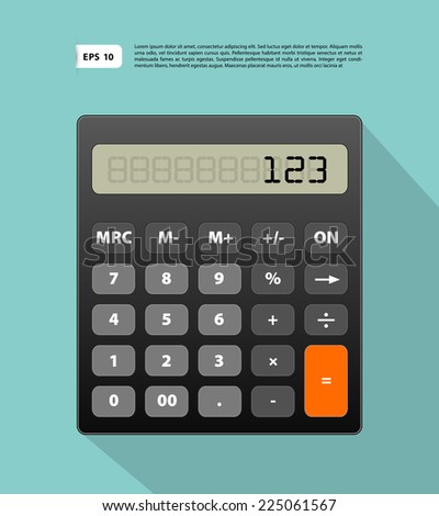 Vector illustration of Calculator image - stock vector