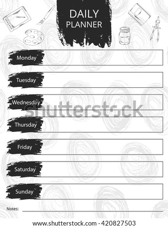 Vector illustration of calendar design. It can be used as a poster, greeting card, invitation, printed materials. Scrapbooking. . Vector illustration - stock vector