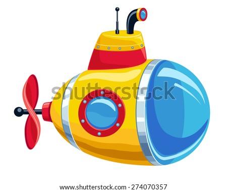 векторное изображение подводная лодка