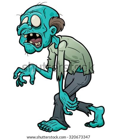 Vector illustration of Cartoon zombie - stock vector
