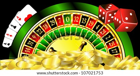 vector illustration of casino - stock vector