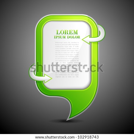vector illustration of chat bubble with copy space - stock vector