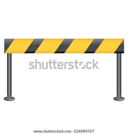 Vector illustration of checkpoint - stock vector