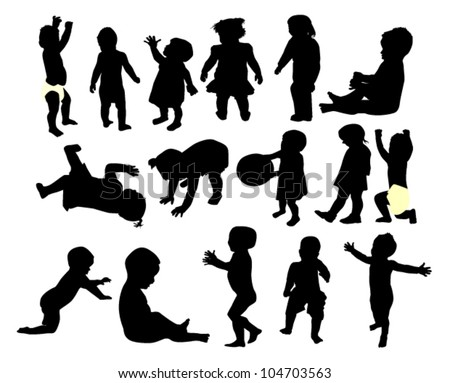 vector illustration of  children - stock vector