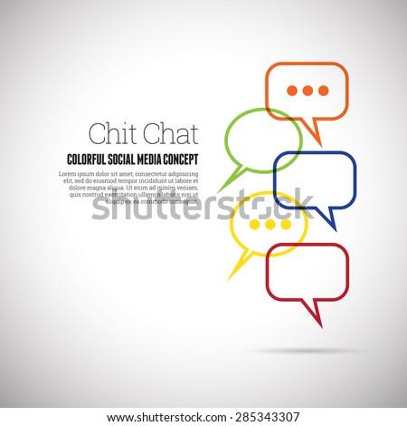 Vector illustration of chit chat social media concept design element. - stock vector