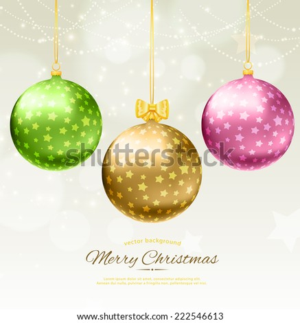 Vector illustration of christmas balls - stock vector