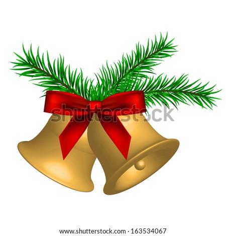 Vector illustration of christmas bells - stock vector