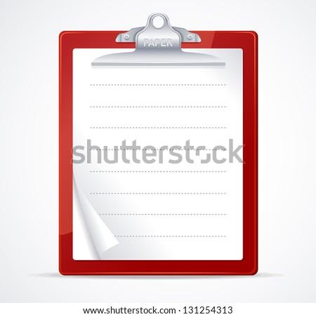 Vector illustration of clipboard - stock vector