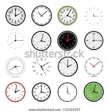 vector illustration of clock - stock vector