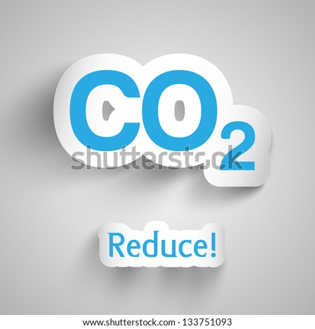 Vector illustration of CO2 pollution - stock vector
