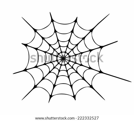 Vector illustration of cobweb - stock vector