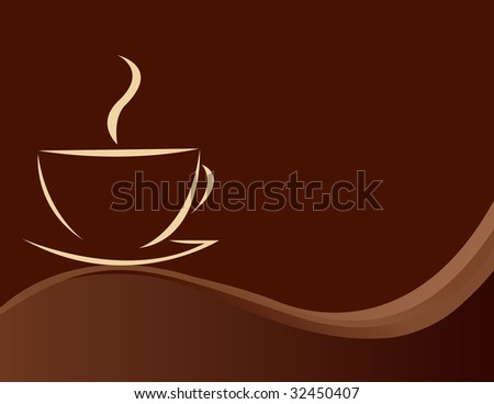 vector illustration of coffee - stock vector