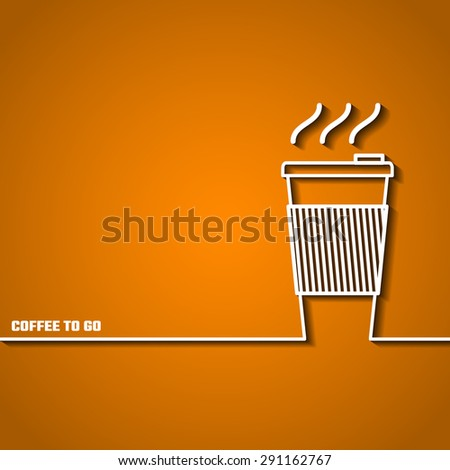 Vector Illustration of Coffee Outline concept for Design, Website, Background, Banner. Coffee beans Element Template for you Restaurant Menu or Infographic.  - stock vector