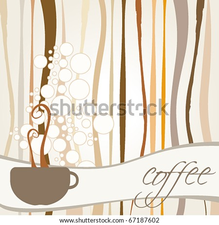 Vector illustration of coffee themed background - stock vector