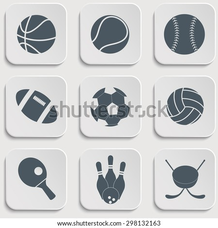 vector illustration of collection of different sport - stock vector
