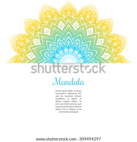 Vector illustration of Color Mandala background - stock vector