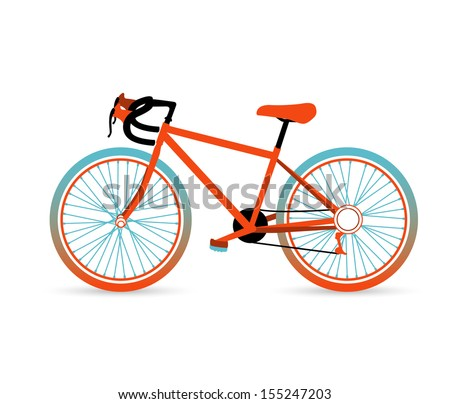 Vector illustration of Colorful bicycle - stock vector