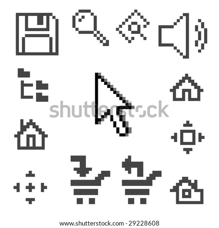 Vector illustration of computer icons - stock vector