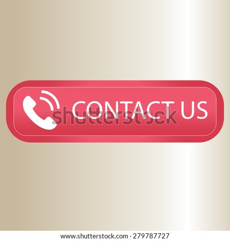 Vector illustration of Contact us  - stock vector