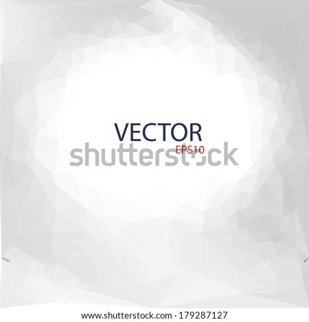 Vector illustration of crumpled paper  - stock vector