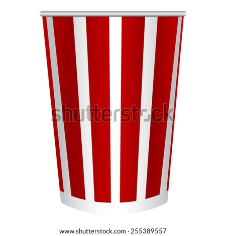 Vector illustration of Cup of popcorn - stock vector