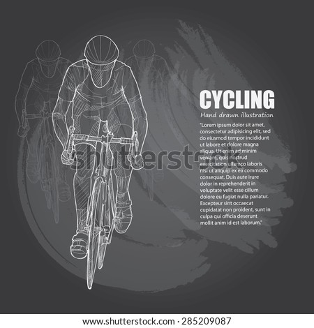 Vector illustration of Cycling - stock vector