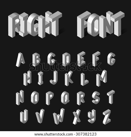 Vector Illustration of 3D Alphabet for Design, Website, Background, Banner. White Isolated Letters. Element Template for Your phrase, text, adverts.  - stock vector